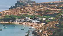 Bucht an der Ostküste auf Rhodos