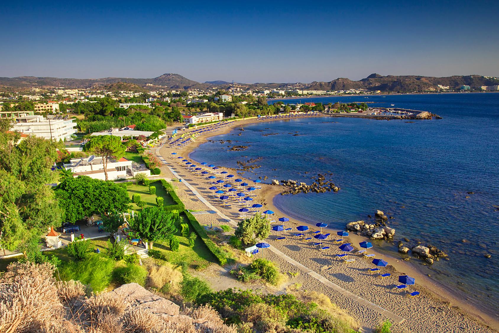 Faliraki Bucht / Strand auf Rhodos