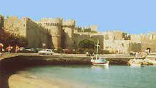 Festungsmauer der Altstadt von Rhodos