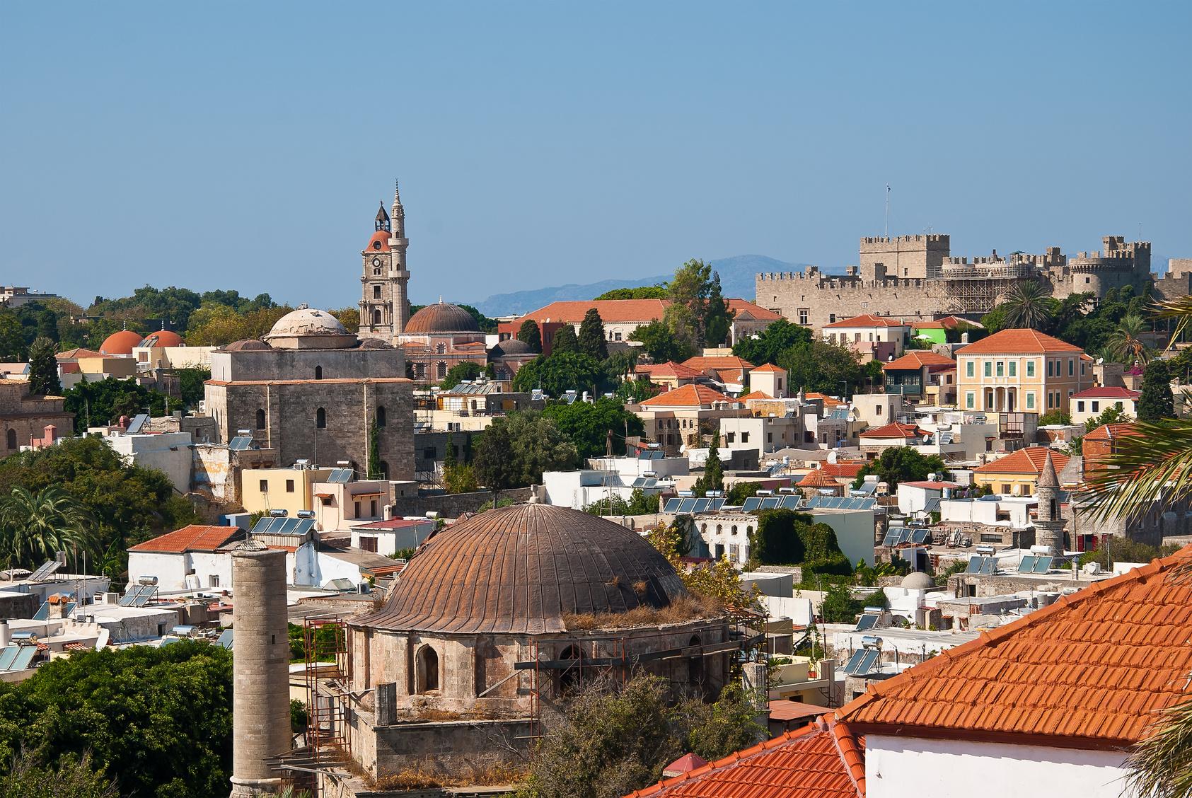 Panorama der Altstadt von Rhodos